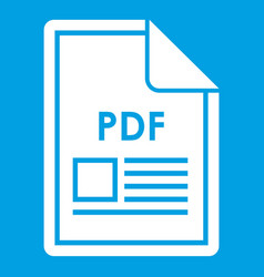 File pdf icon white vector
