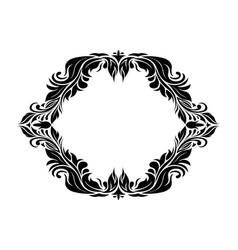 filigree floral frame ornamental decoration vector image
