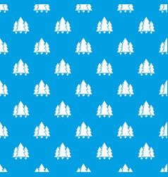 fir tree pattern seamless blue vector image