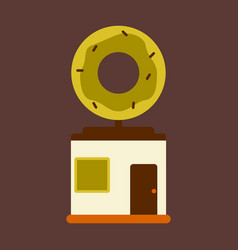 flat icon donut shop vector image