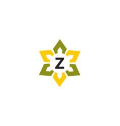 Flower infinity letter z vector