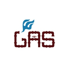 Gas industry design template vector