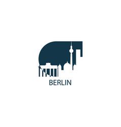 germany berlin skyline vector image