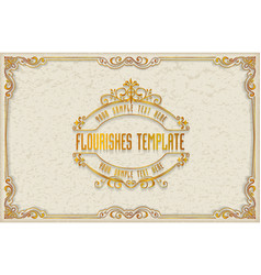 gold photo frame with thai style border frame vector image