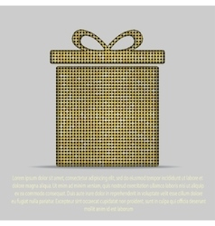 Gold sequin gift box Eps 10 vector