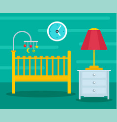 green baby room background flat style vector image