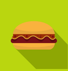 hamburger icon flat style vector image