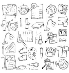 Hand draw of doodles collection school vector
