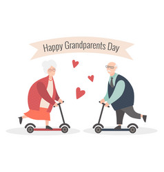 Happy grandparents day cartoon vector