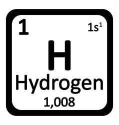 Hydrogen icon vector