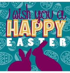 I wish a happy easter vector image