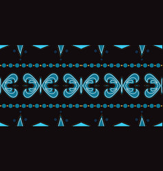 Indigo modern muslim ornament seamless vector