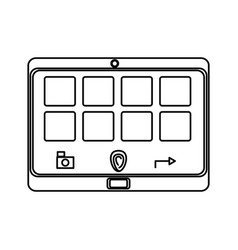 Isolated smart tablet vector
