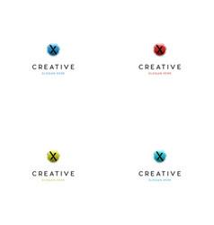 letter x technology creative logo design vector image