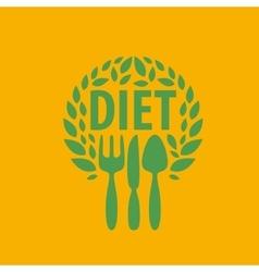 logo for diet vector image