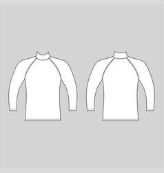 Long sleeve raglan t-shirt vector