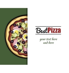 Menu For Pizzeria 5 vector image