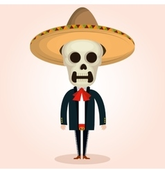 Mexican mariachi character classic vector