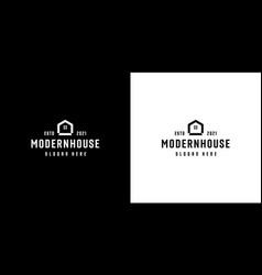 Modern house or home logo design concept line vector