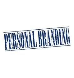 personal branding blue grunge vintage stamp vector image