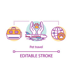 Pet travel concept icon dog and cat vector
