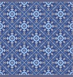 Portuguese azulejo tiles seamless patterns vector