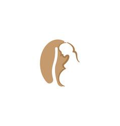 Pregnant women and coffee bean logo designs vector