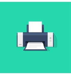 Printer flat icon with shadow vector