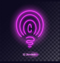 Purple stylized lightbulb icon vector