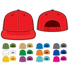 Rap cap set vector