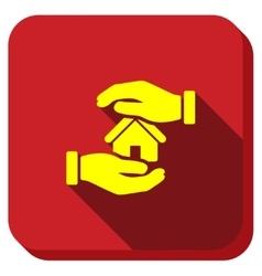 Realty Insurance Longshadow Icon vector
