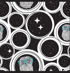 seamless pattern with abstract circles and cute vector image
