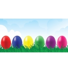 set of egg vector image