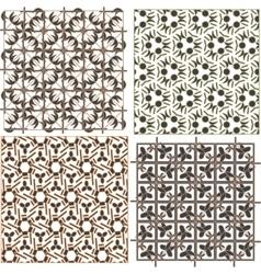 Set of stylish seamless geometrical backgrounds vector image