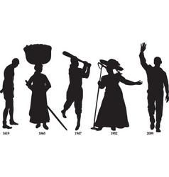 slavery vector image