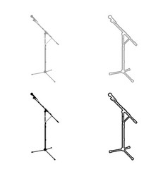 Stand microphone sound recording equipment racks vector