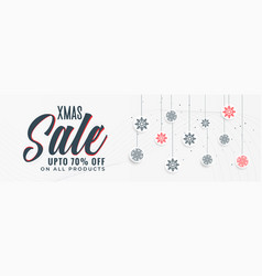 Stylish christmas sale banner design vector