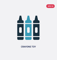 Two color crayons toy icon from toys concept vector