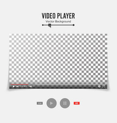 Video player interface template good vector