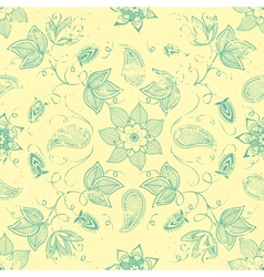 Vintage floral seamless pattern element vector