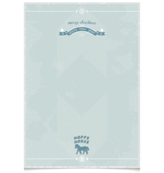 Vintage poster template for holiday greetings vector
