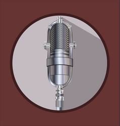 vintage silver microphone 2 vector image