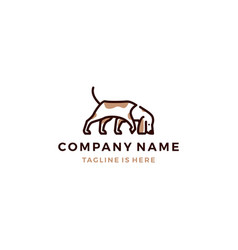 walking dog smells logo template vector image