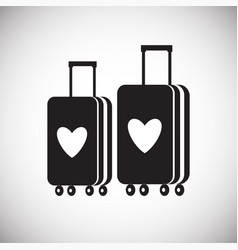 Wedding honeymoon travel icon on white background vector