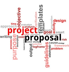 Word cloud project proposal vector