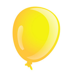 yellow ballon icon cartoon style vector image