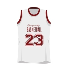 basketball shirt sport vector image