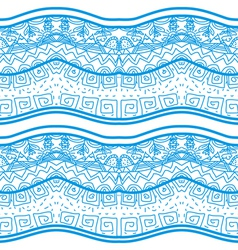 Blue seamless pattern with nature elements vector image vector image