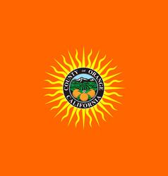 flag of orange county california usa vector image vector image