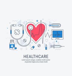 healthcare thin line vector image vector image